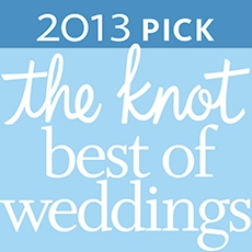 2013 Best of Weddings Award from theknot.com